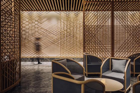竹を巧みに生かしたホテル